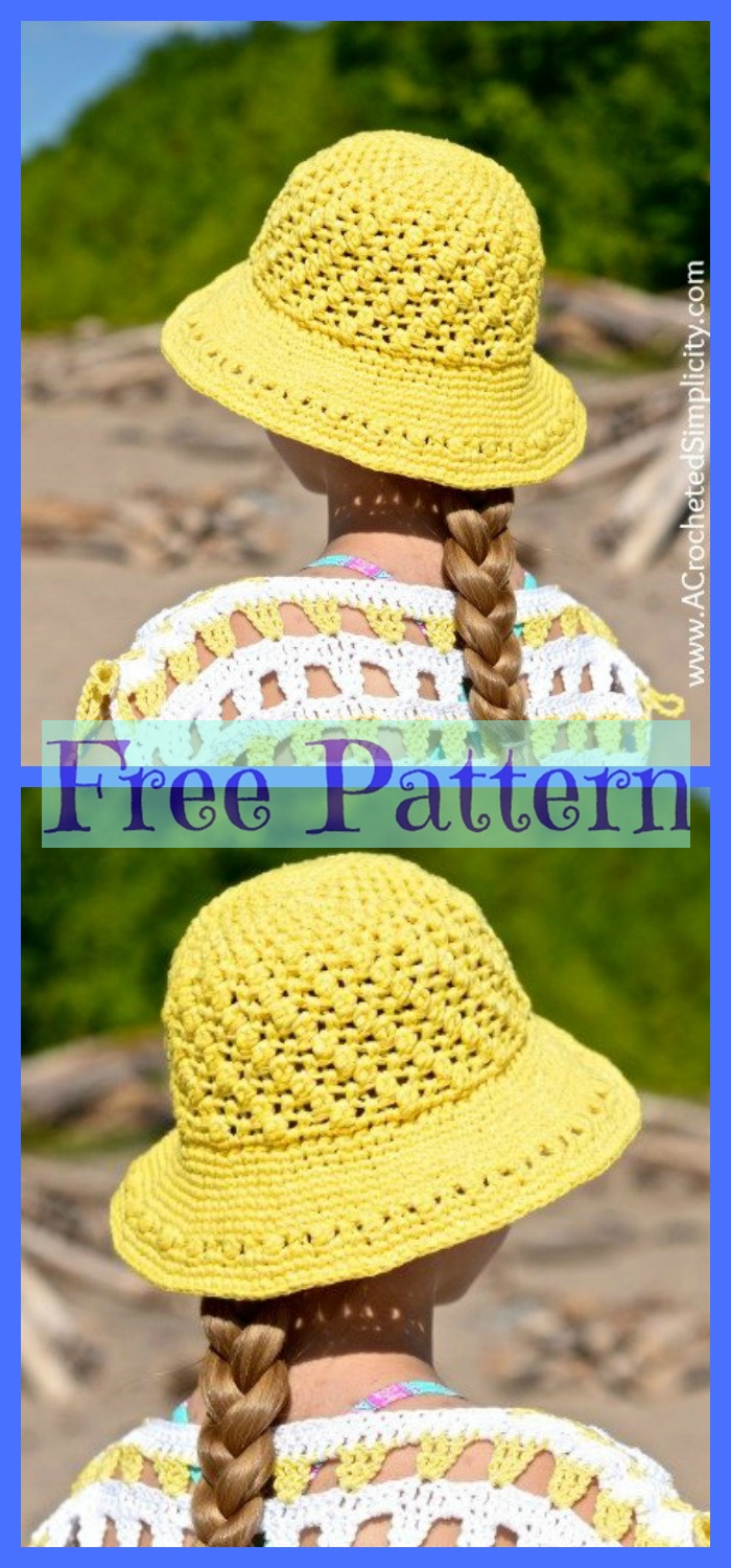 diy4ever-6 Summer Sun Hats - Free Crochet Patterns