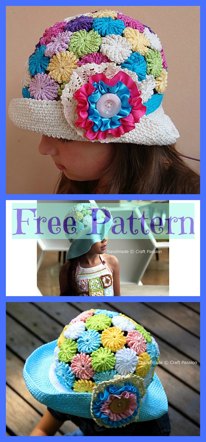 diy4ever-6 Summer Sun Hats - Free Crochet Patterns P2