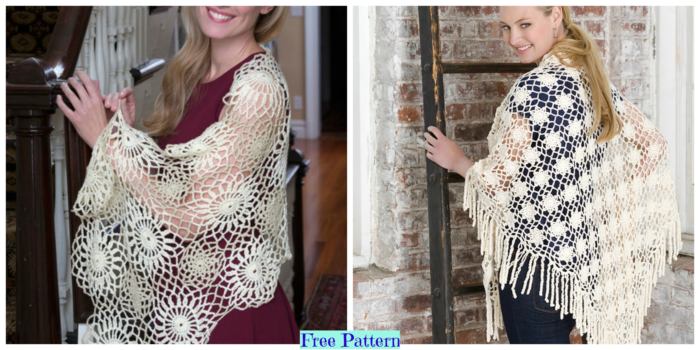 Amazing Crochet Shawls – Free Patterns