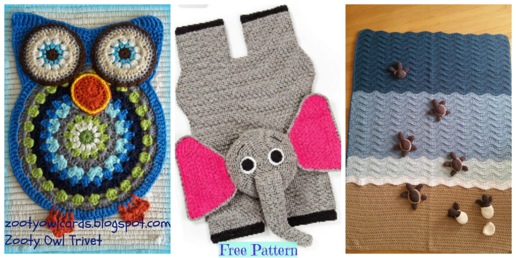 Crochet Animal Rugs - Free Patterns