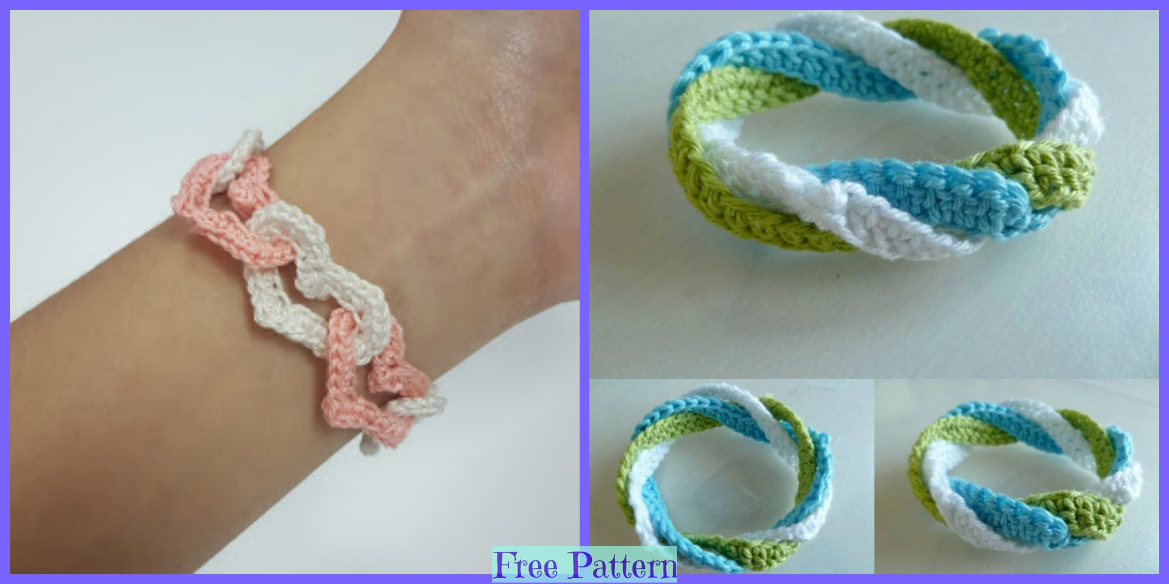 Cute Crochet Bracelets – Free Patterns