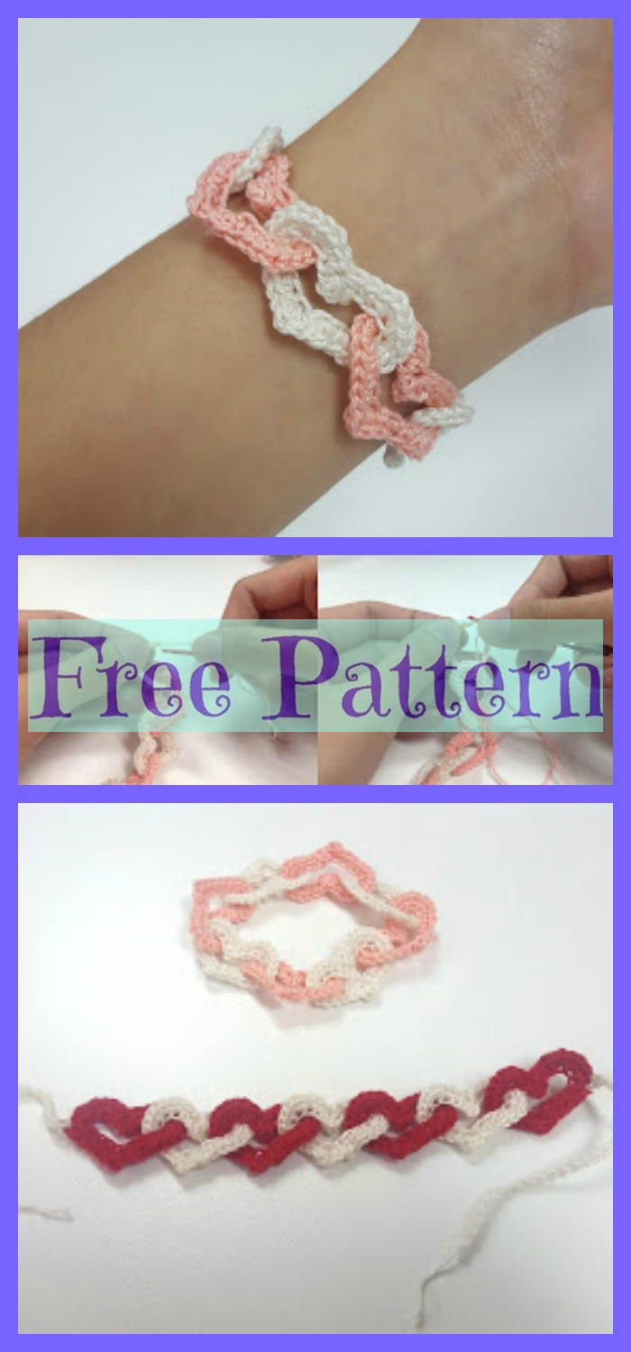 diy4ever-Crochet Bracelets - Free Patterns