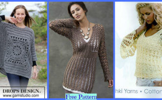 diy4ever-Pretty Crochet Sweaters - Free Patterns F