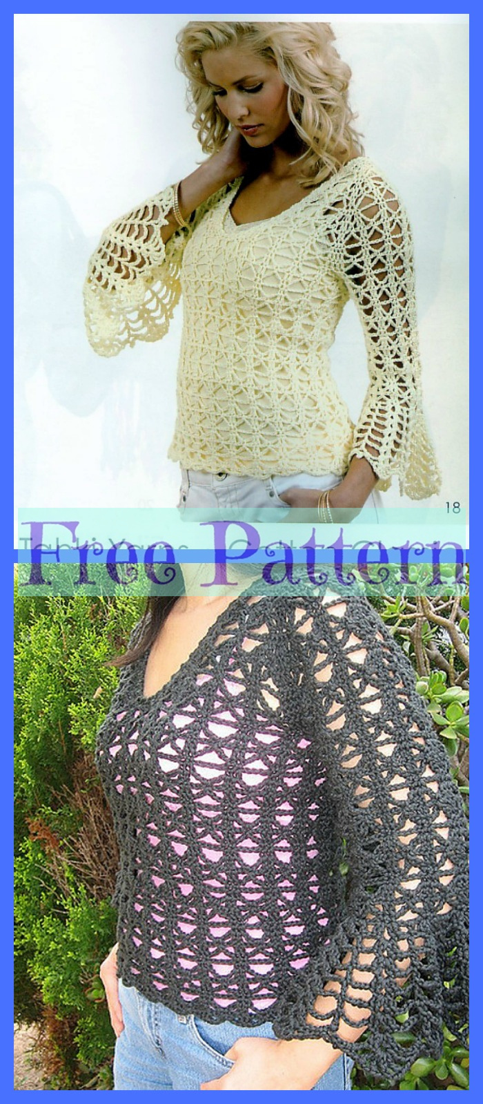 diy4ever-Pretty Crochet Sweaters - Free Patterns P4
