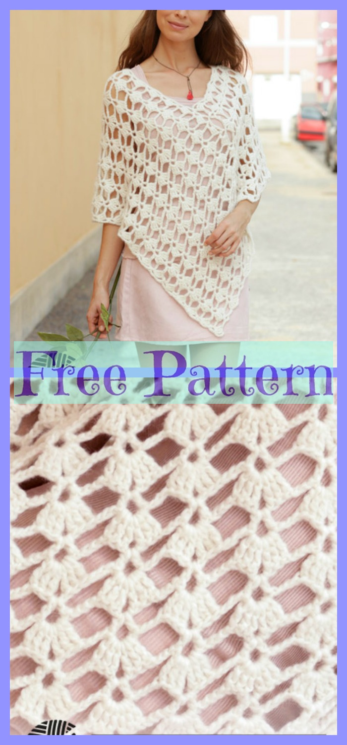 diy4ever-6 Crocheted Unique Poncho Free Patterns