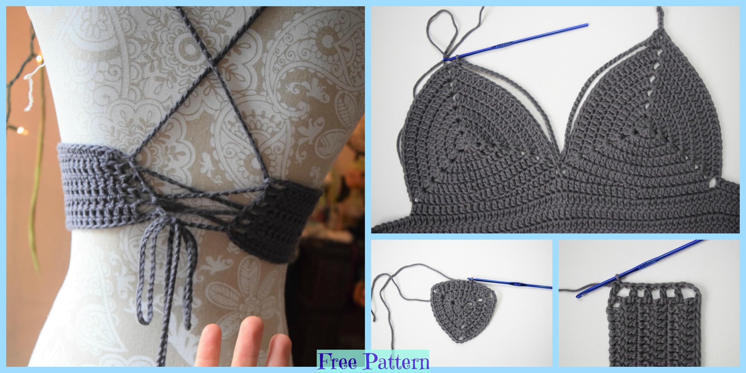 Crochet Basic Bralette – Free Pattern