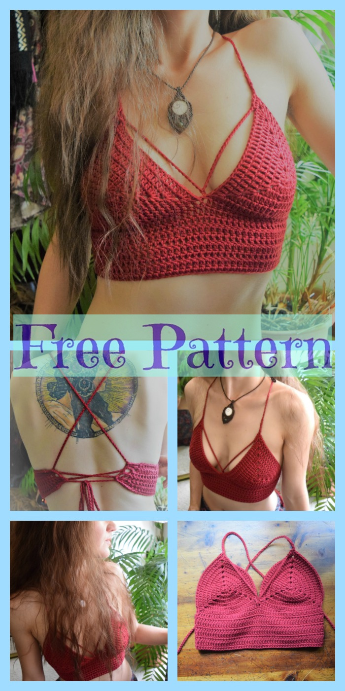 diy4ever-Crochet Basic Bralette - Free Pattern