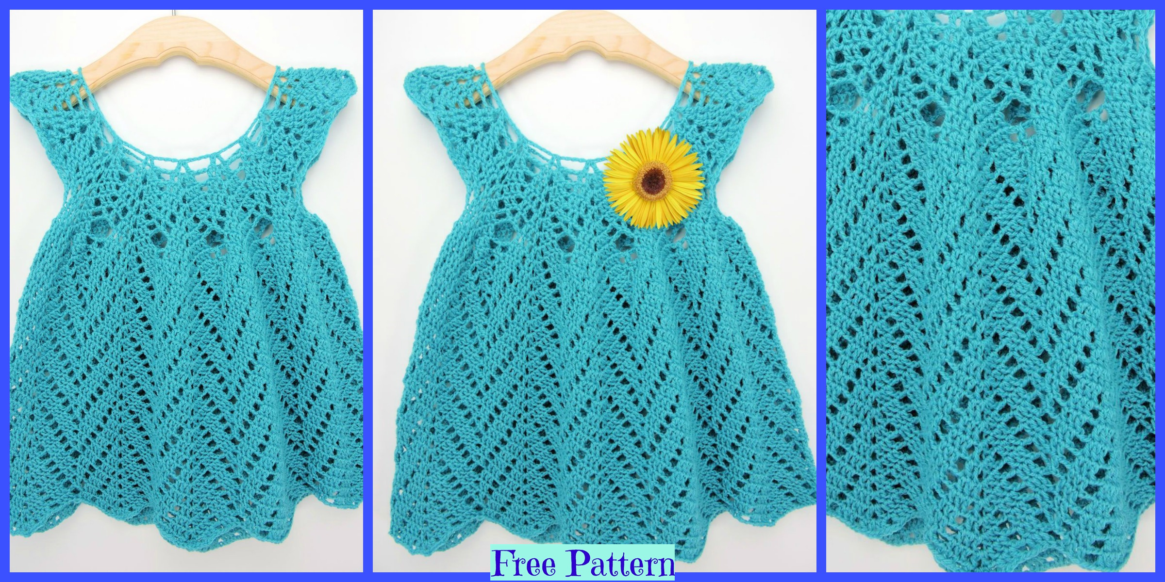 Crochet Chevron Baby Dress – Free Pattern