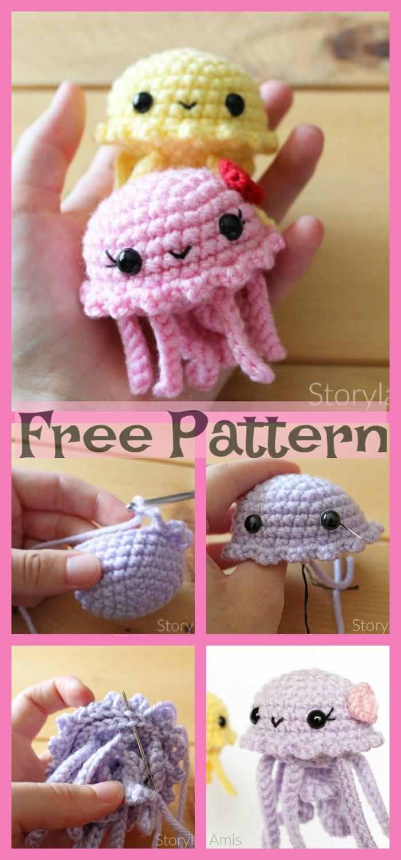 diy4ever-Crochet Jellyfish Amigurumi - Free Patterns