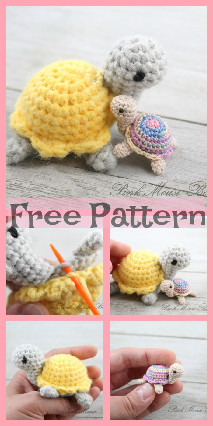 diy4ever-Crochet Little Miss Turtle - Free Pattern