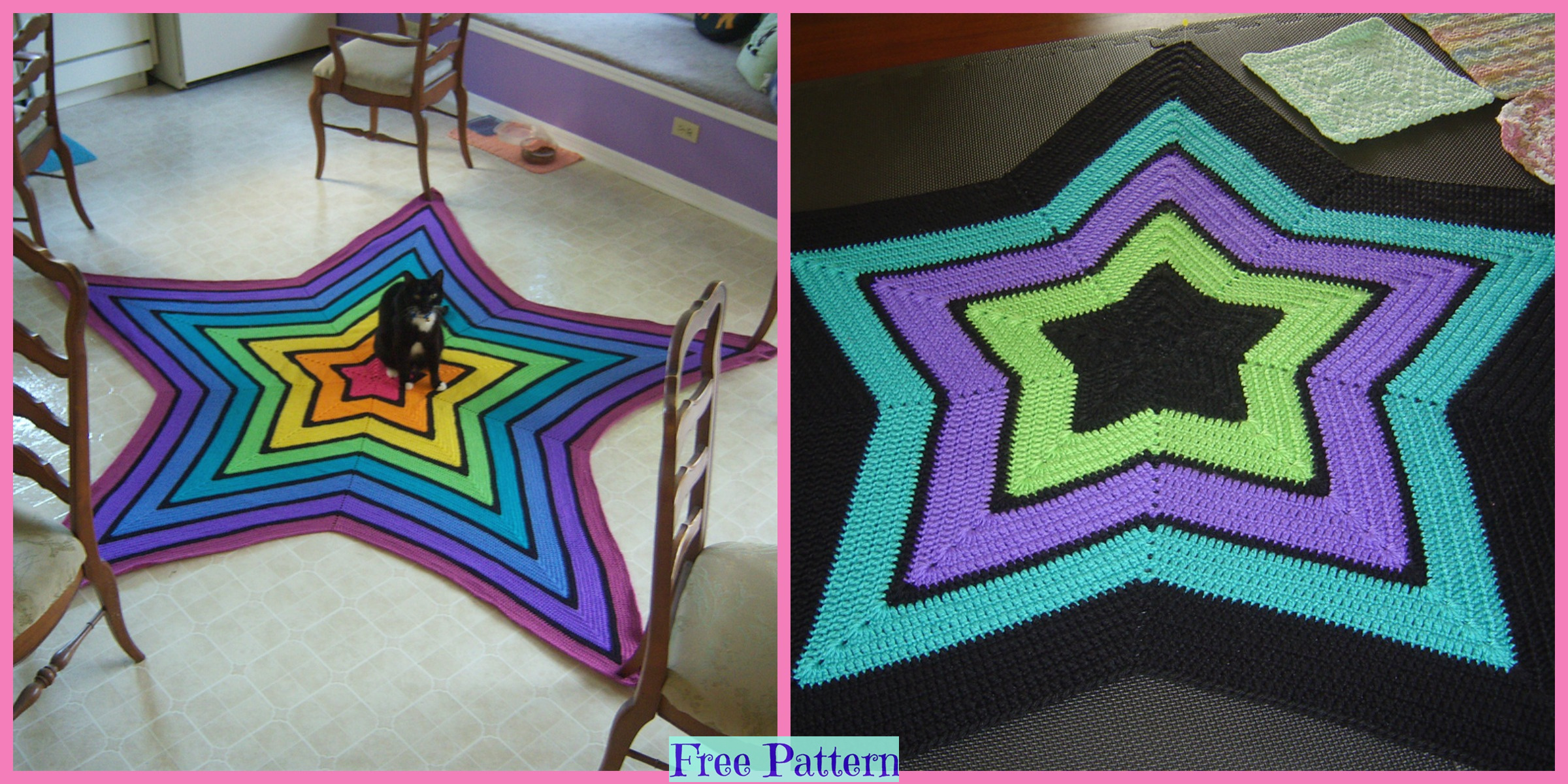 Crochet Little Star Blanket – Free Patterns