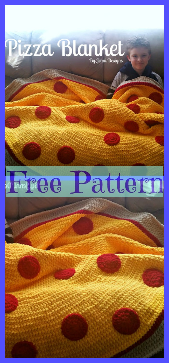 Crochet-Pizza-Throw-Blankets-Free-Patterns