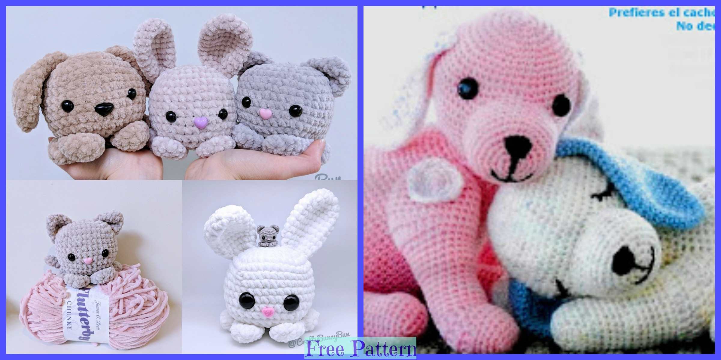 Cute Crochet Puppy Armigurumi – Free Patterns