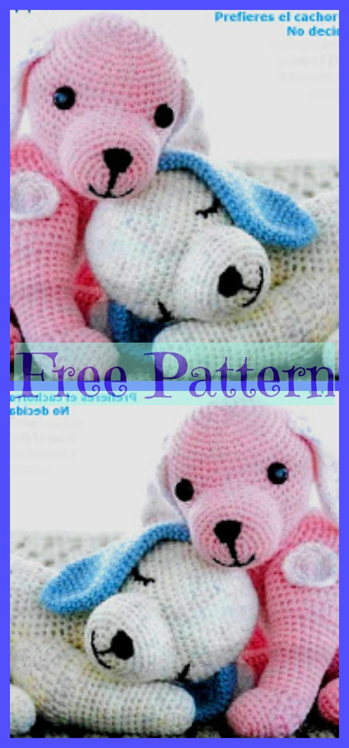 diy4ever-Crochet Puppy Armigurumi - Free Patterns