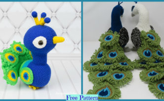 diy4ever-Crochet Regal Peacock - Free Pattern