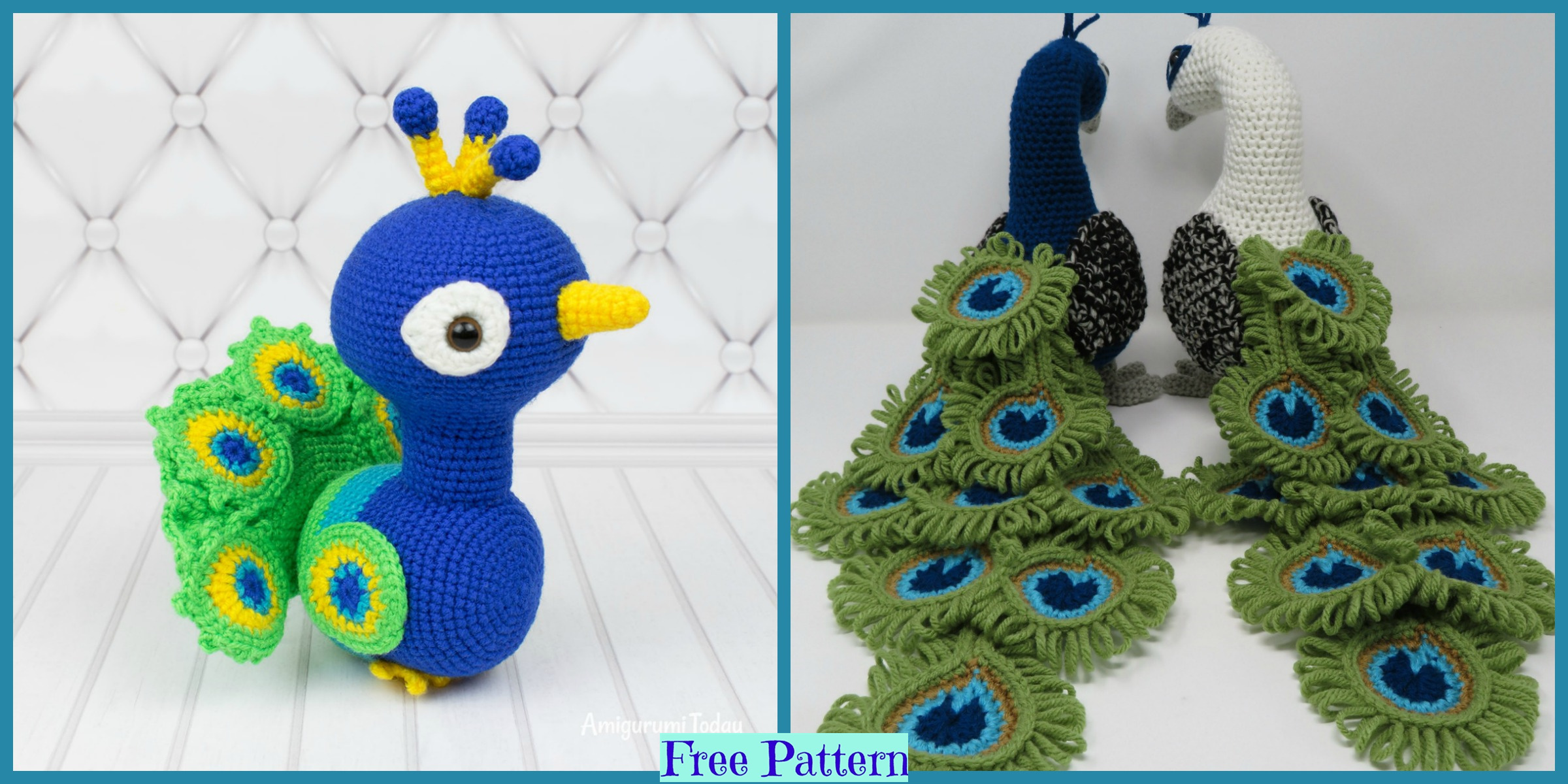 Crochet Regal Peacock – Free Pattern