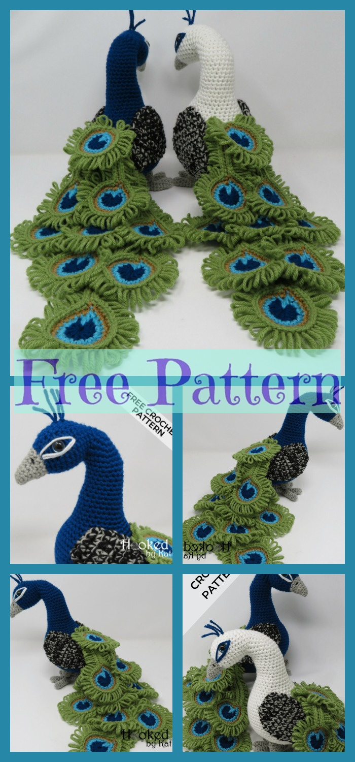 diy4ever-Crochet Regal Peacock - Free Pattern