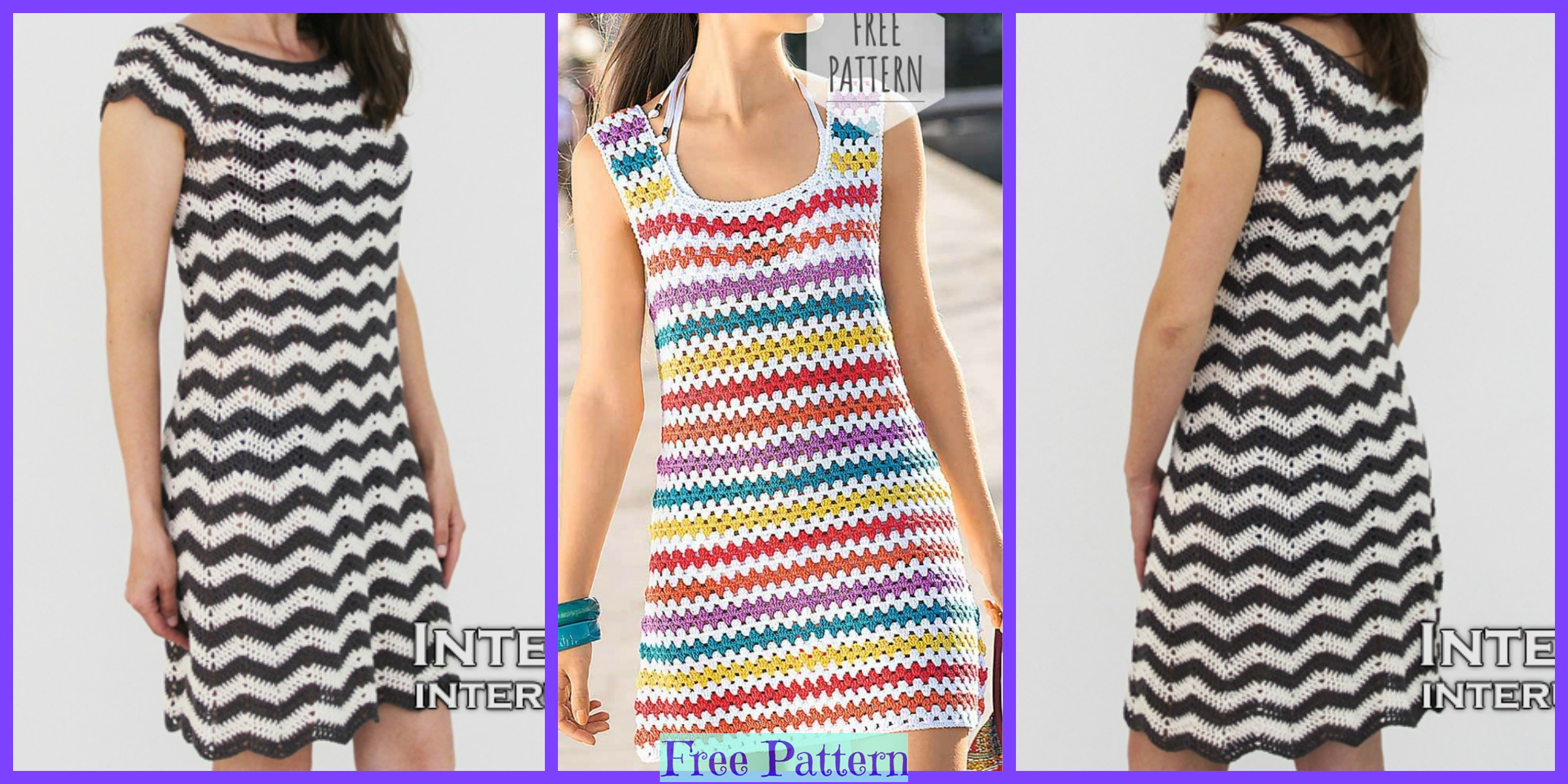 Crochet Striped Dress – Free Pattern