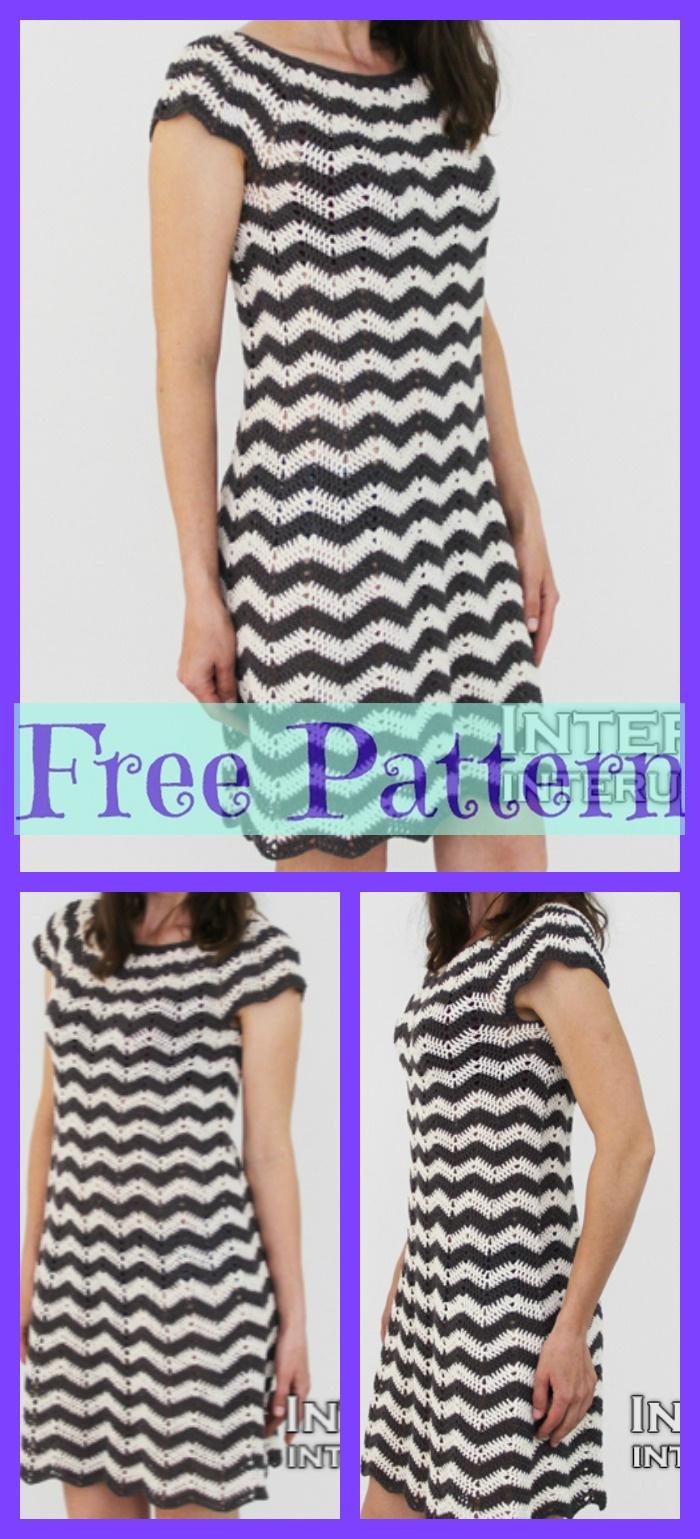 diy4ever- Crochet Striped Dress - Free Pattern