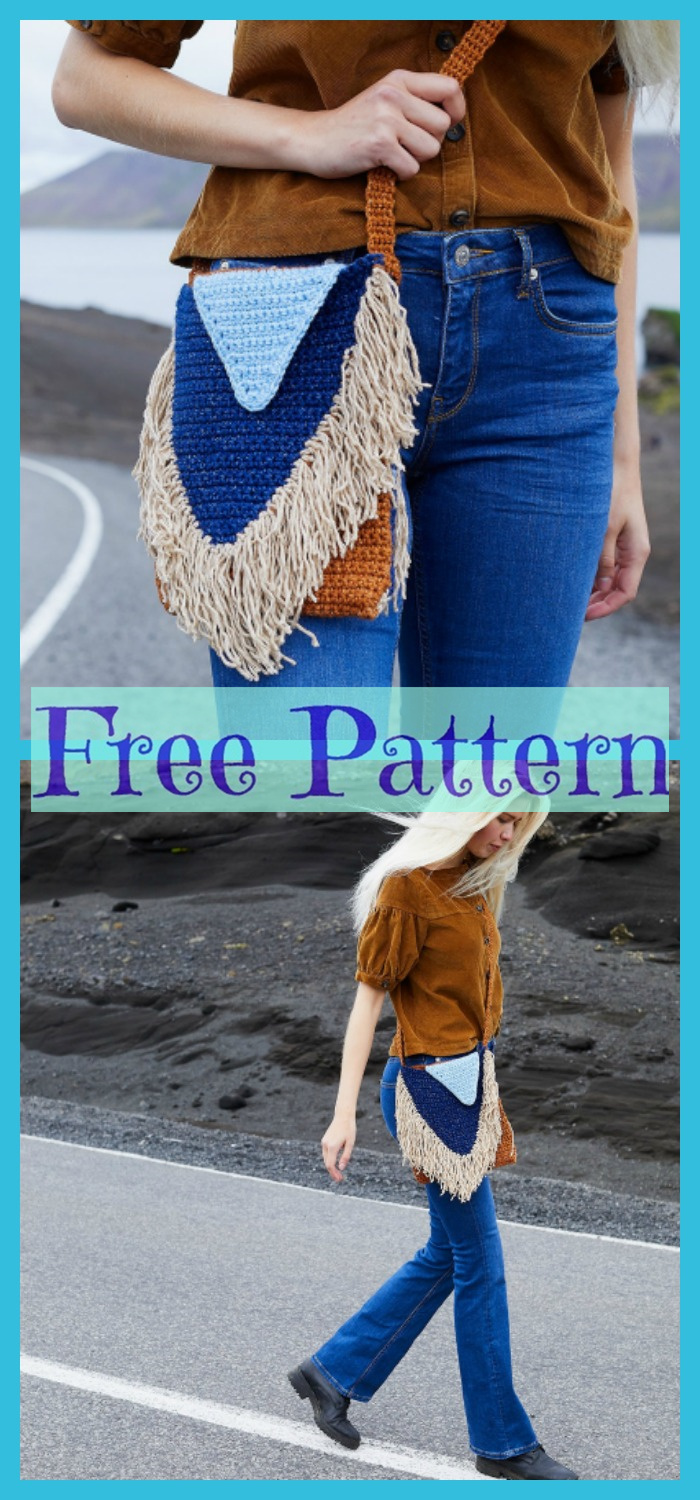 diy4ever-Crochet Stylish Bag - Free Patterns