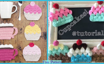 diy4ever-Cute Crochet Cupcakes - Free Patterns