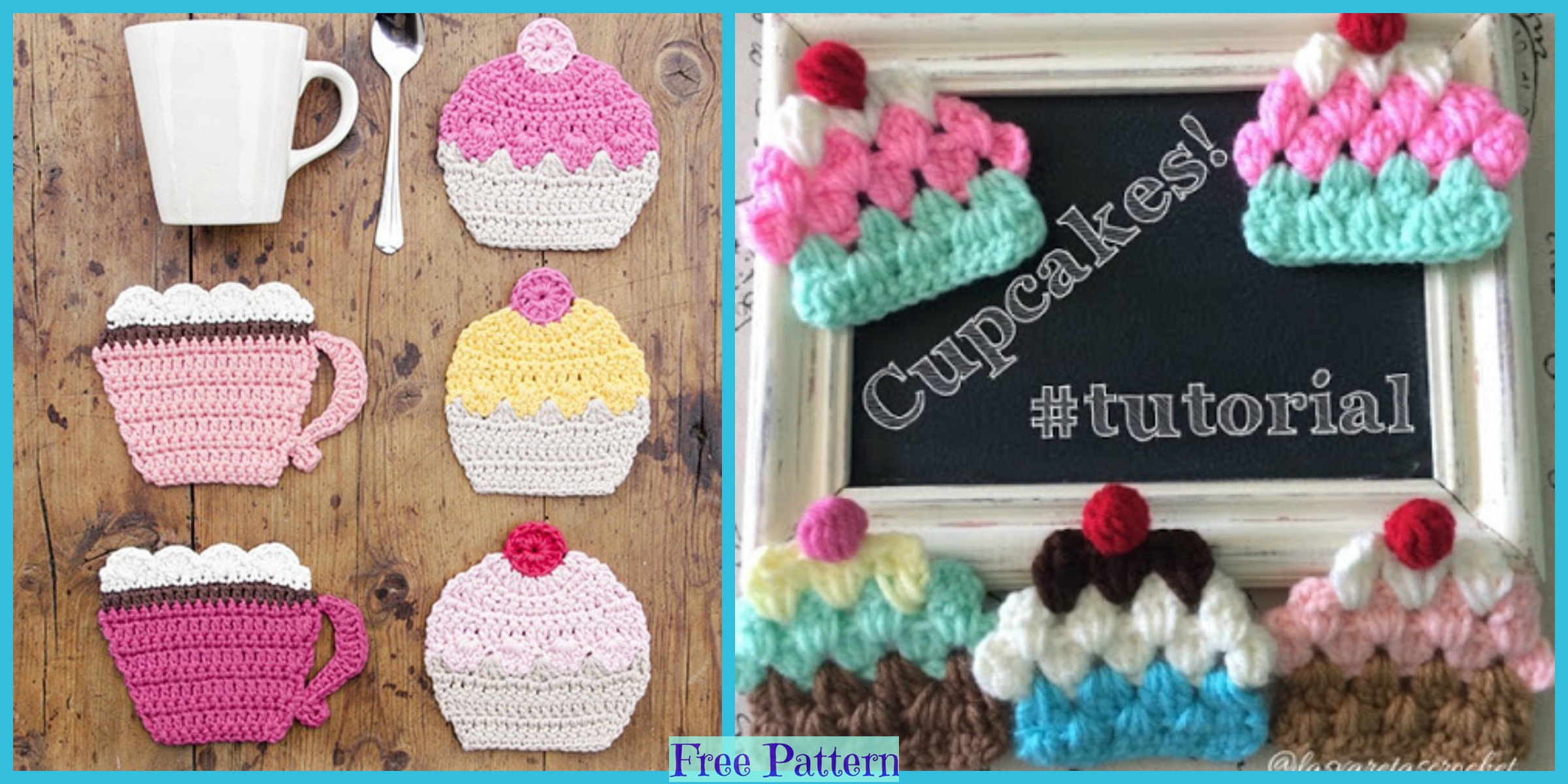 Cute Crochet Cupcakes – Free Patterns