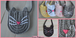 diy4ever-Cute Crochet Kitty Bag - Free Pattern