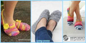 diy4ever-Easy Crochet Slippers - Free Patterns