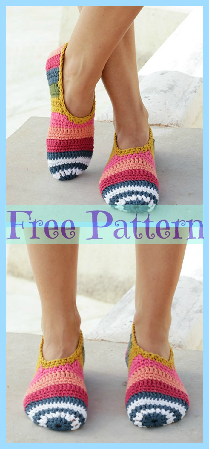 diy4ever-Easy Crochet Slippers - Free Patterns