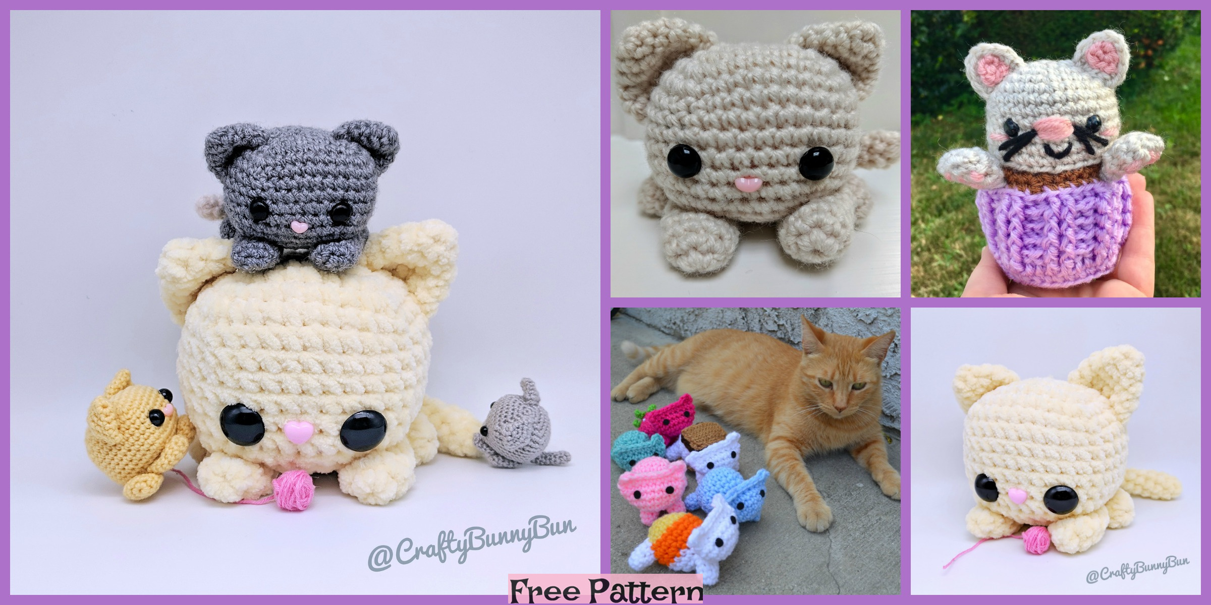 Crochet Amigurumi Kitty – Free Patterns