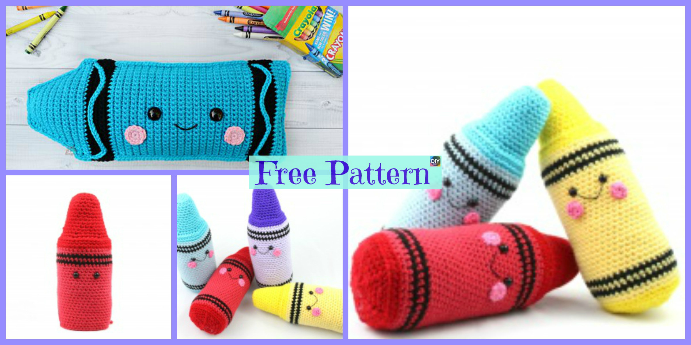 Crochet Crayon Amigurumi – Free Patterns