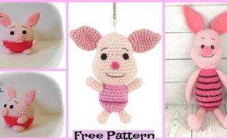 diy4ever-Adorable Crochet Piglets - Free Patterns