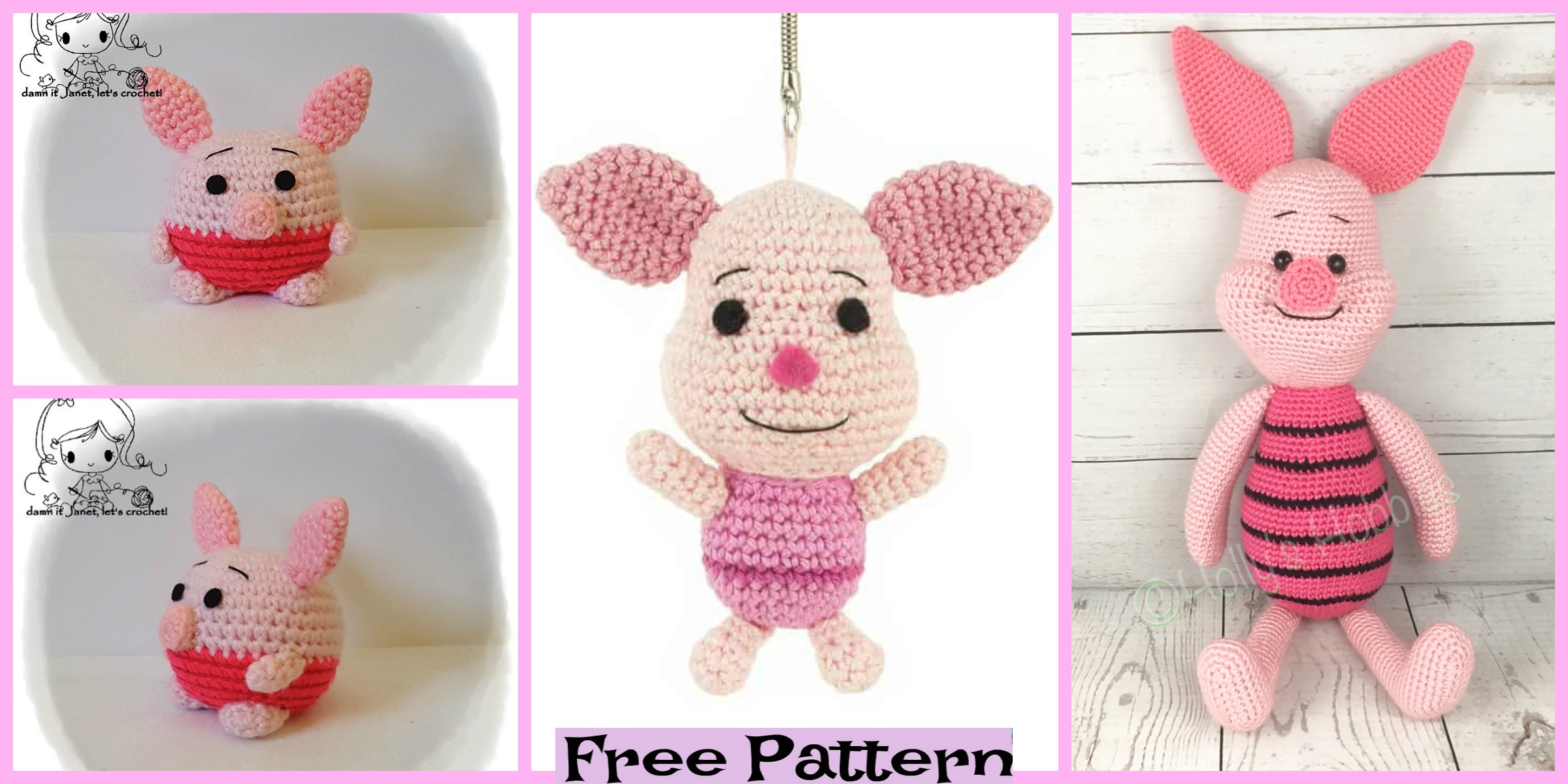 Adorable Crochet Piglets – Free Patterns
