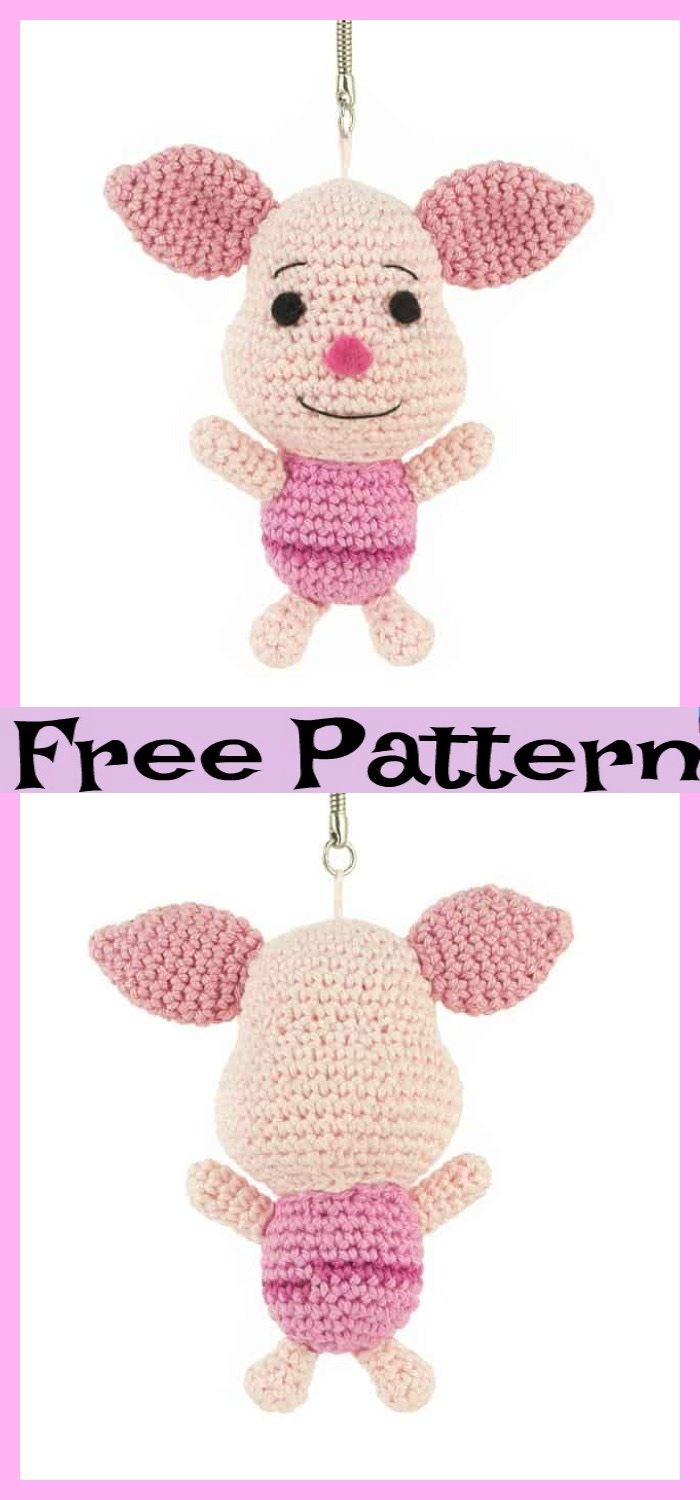 diy4ever-Adorable Crochet Piglets - Free Patterns