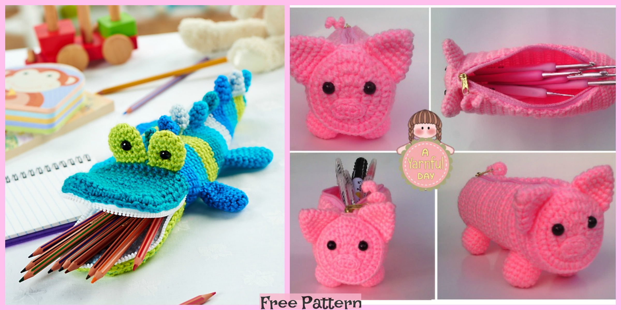 Crochet Animal Pouches – Free Patterns