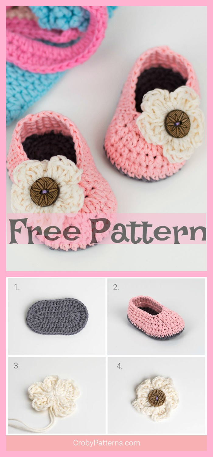 diy4ever- Crochet Baby Booties - Free Patterns
