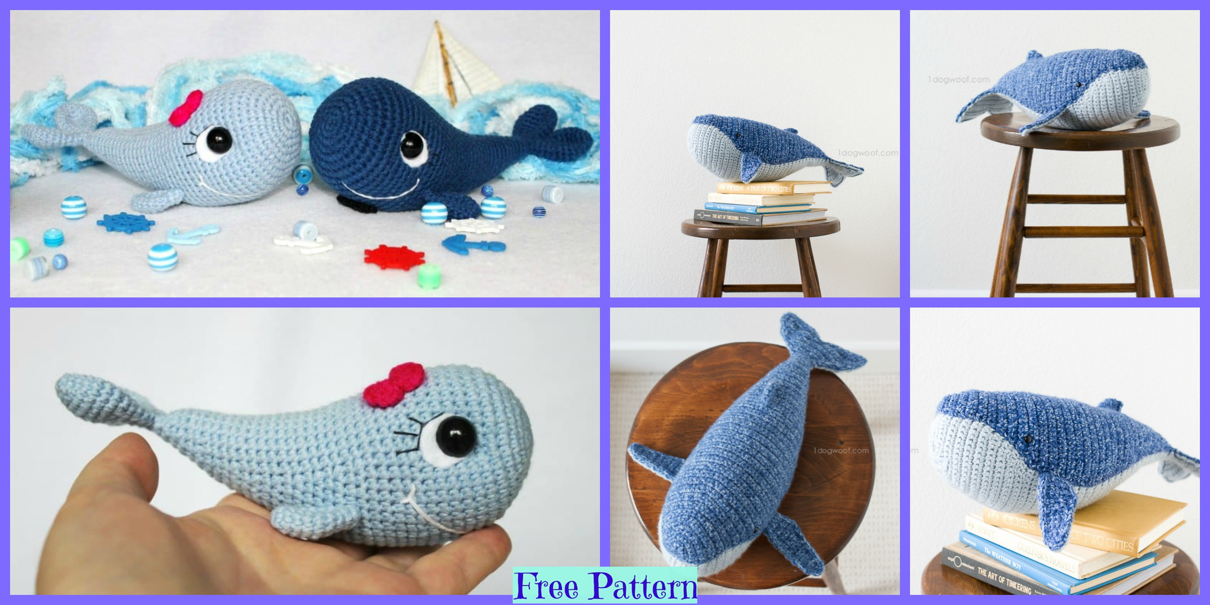 Crochet Blue Whale Amigurumi – Free Patterns