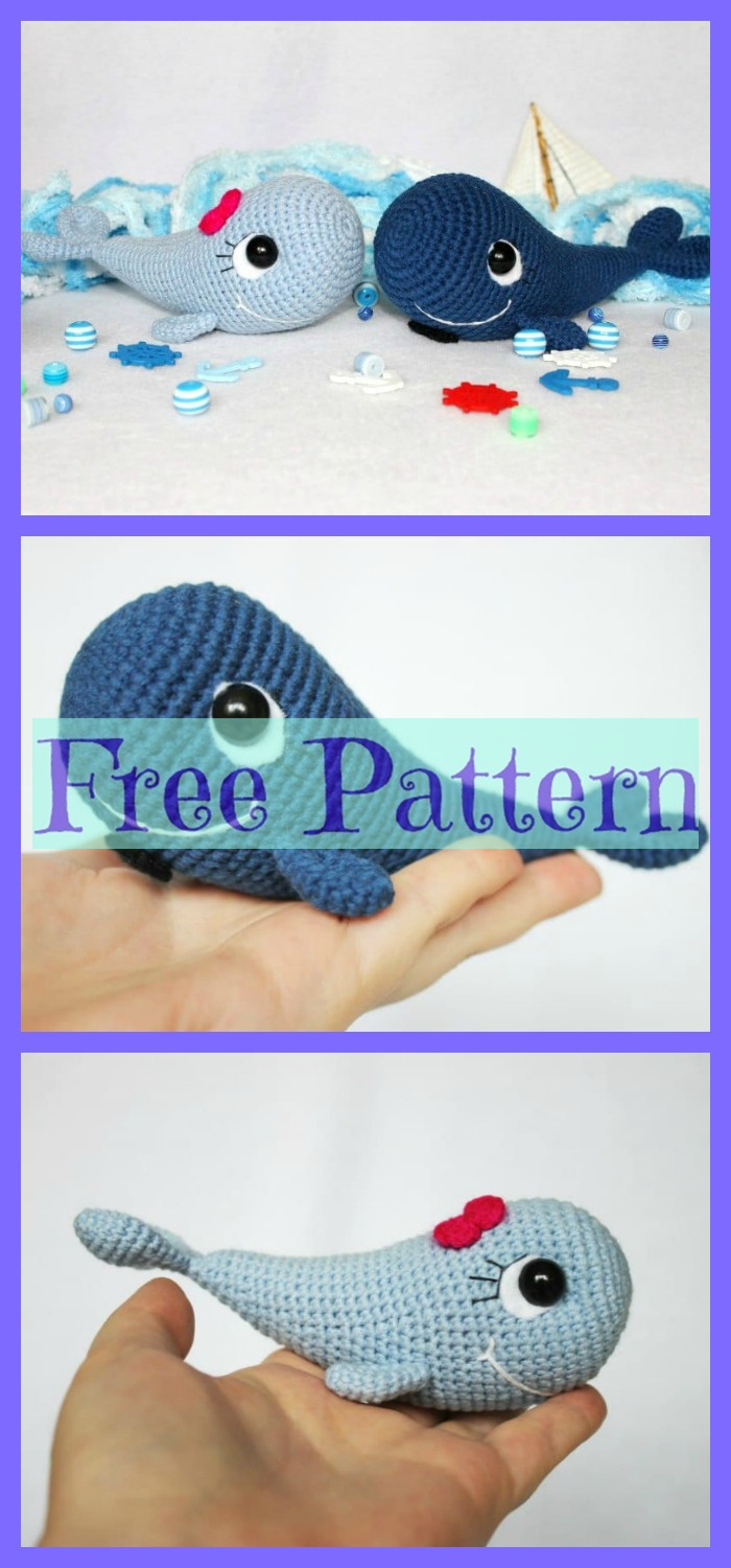 diy4ever-Crochet Blue Whale Amigurumi - Free Patterns