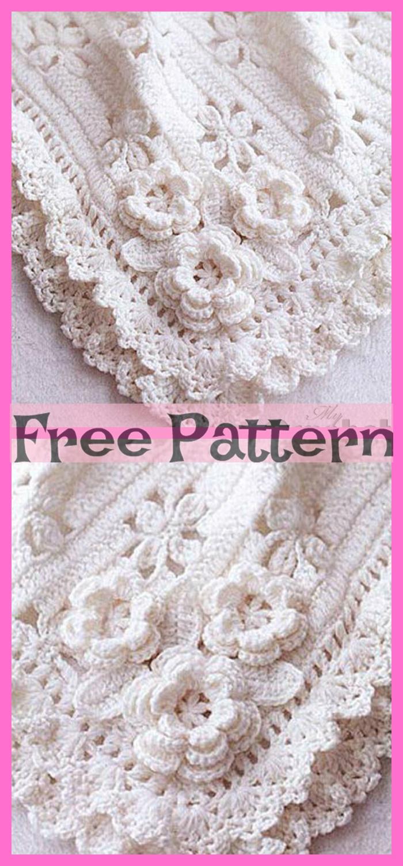 diy4ever-Crochet Cozy Baby Blanket - Free Patterns