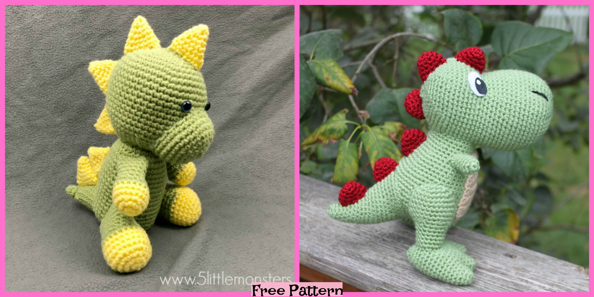 Crochet Dinosaur Softie – Free Patterns