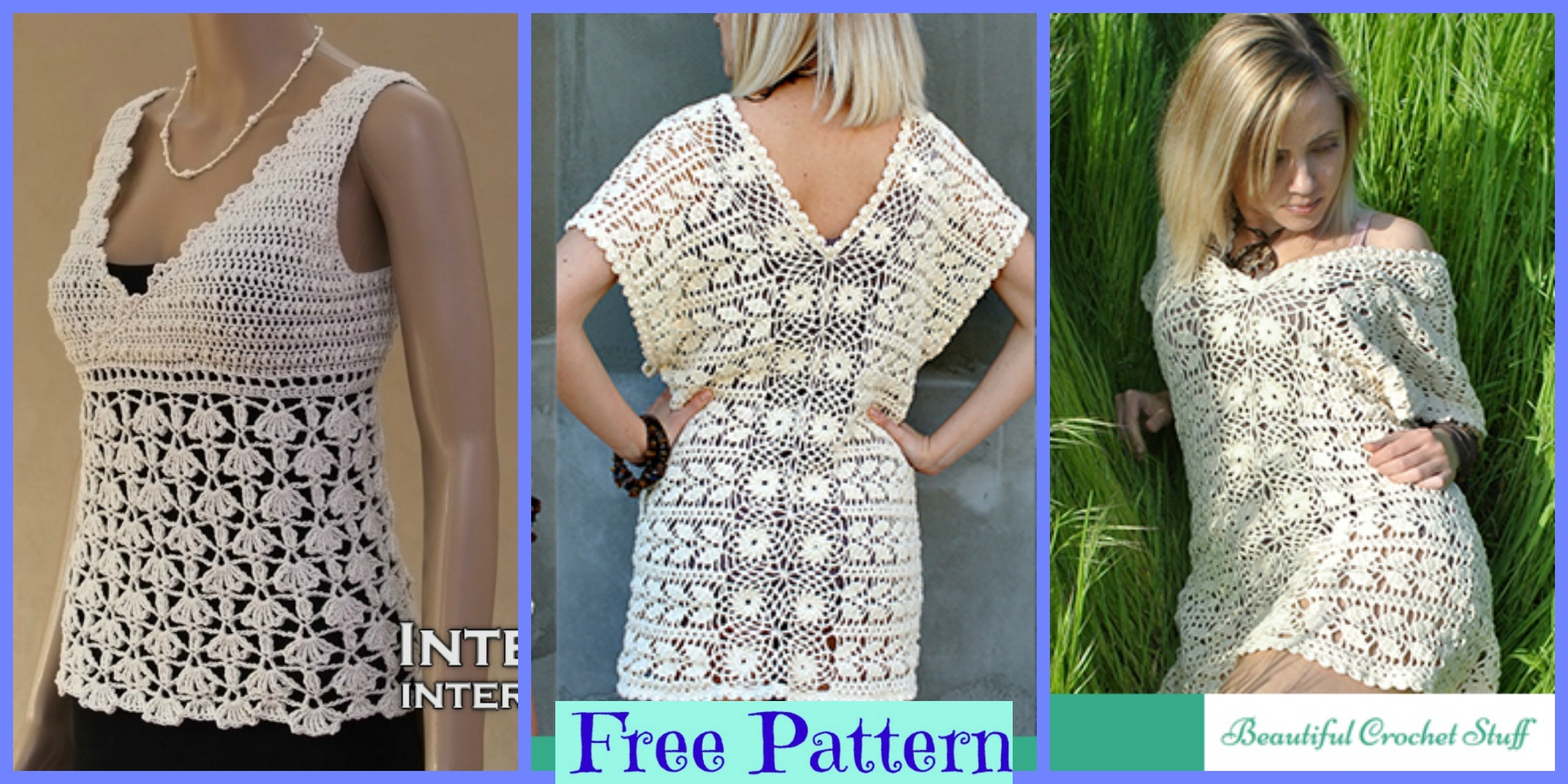 Crochet Easy Blouses – Free Patterns