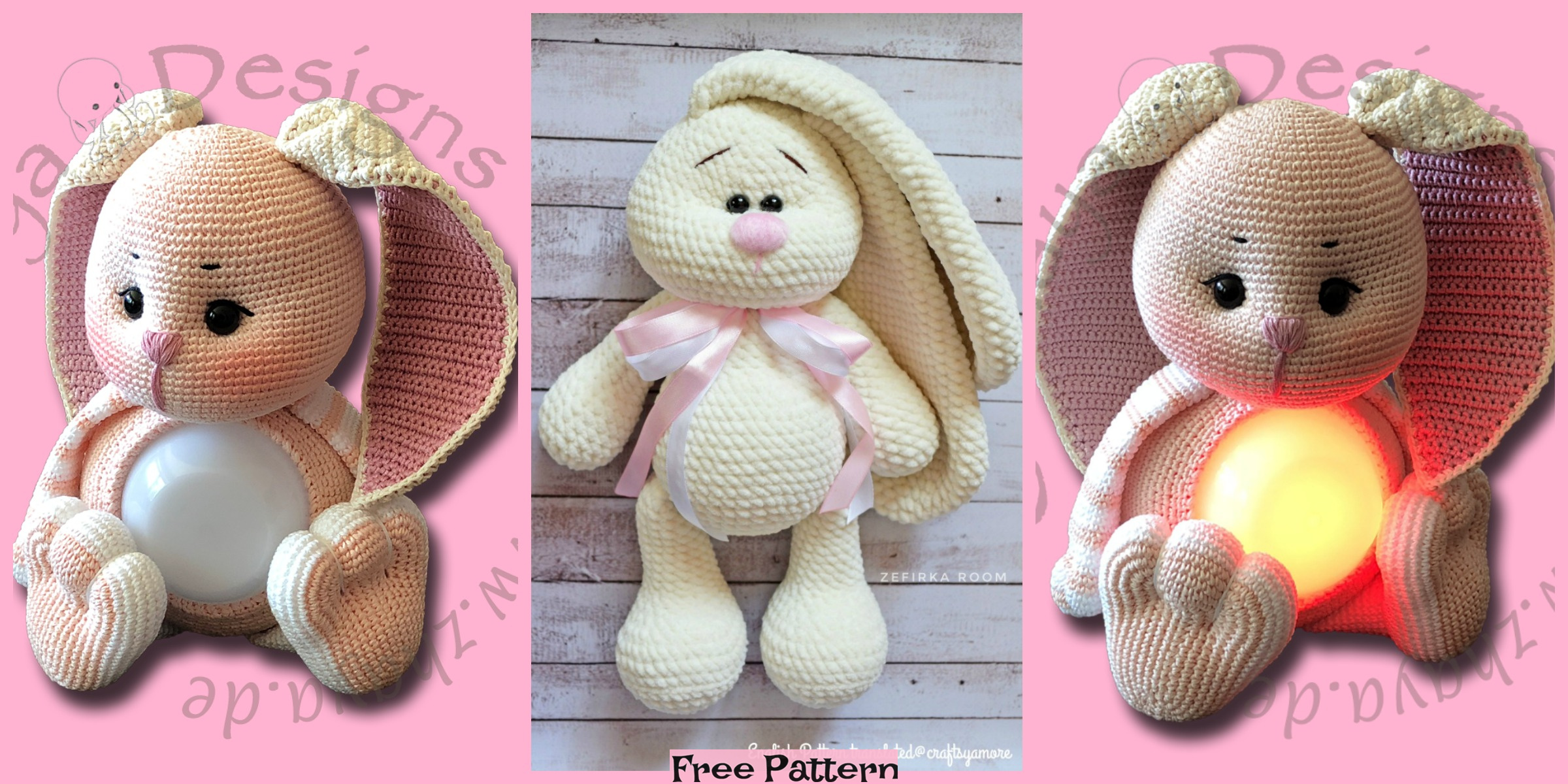 Crochet Flappy Ear Bunny – Free Patterns