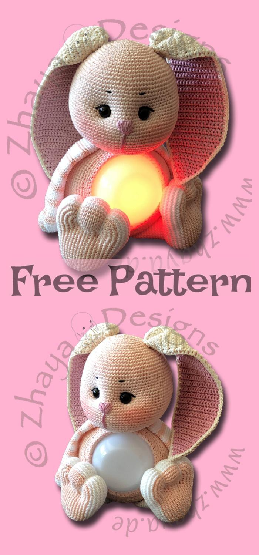 diy4ever-Crochet Flappy Ear Bunny - Free Patterns