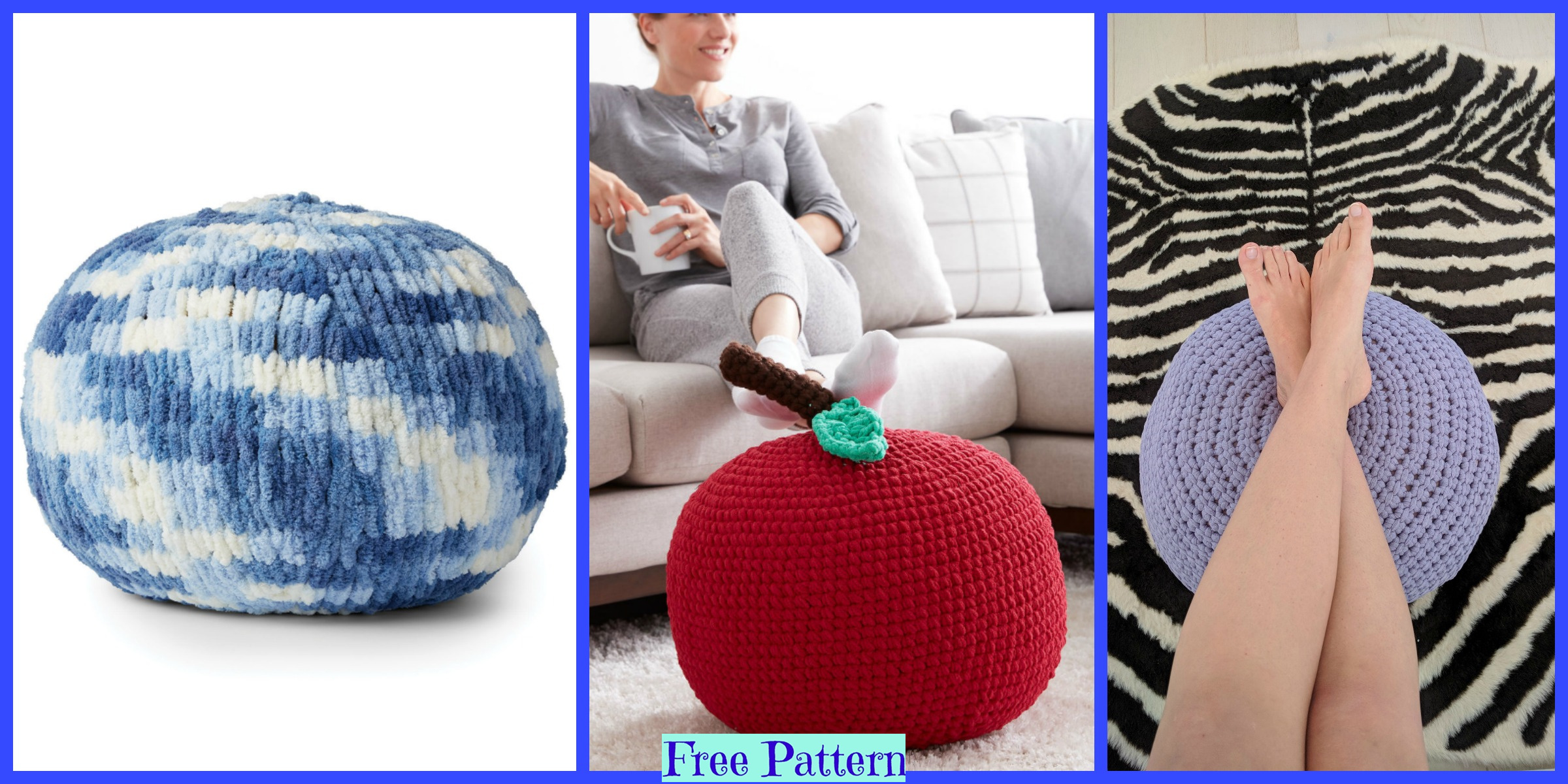 Useful Crochet Floor Puffs – Free Patterns