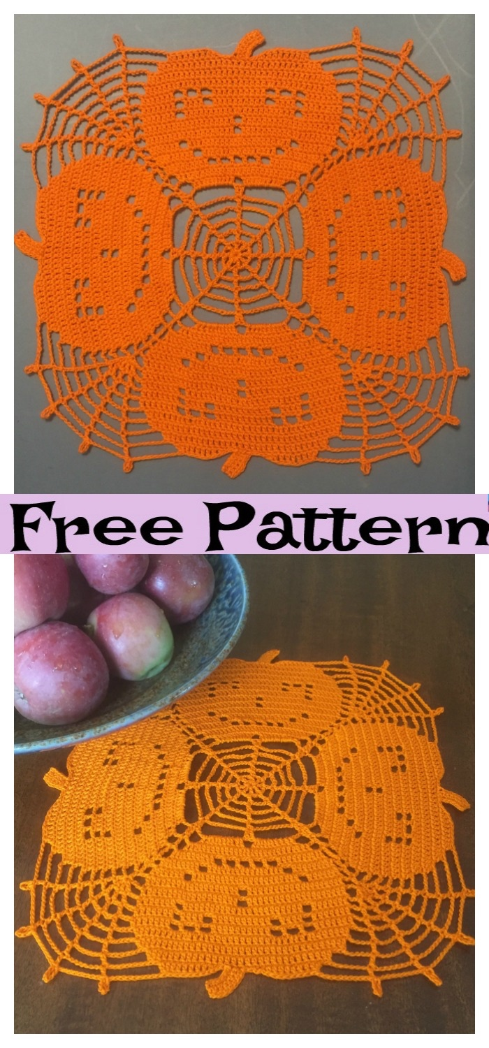 diy4ever-Crochet Halloween Doilies - Free Patterns