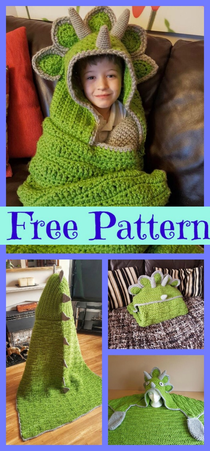 diy4ever-Crochet-Hooded-Dinosaur-Blanket-Free-Pattern