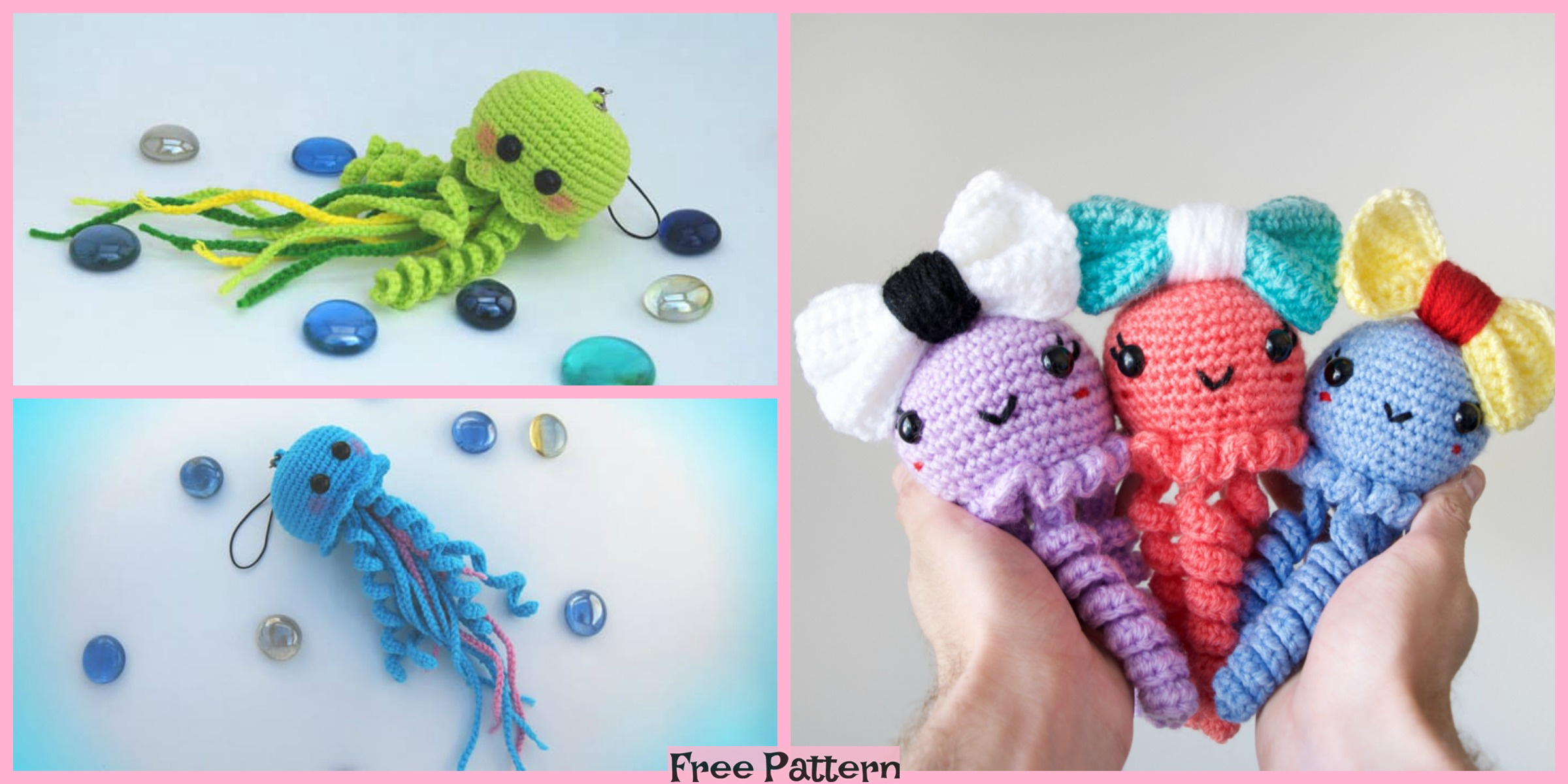 Crochet Jiggly Jellyfish – Free Patterns