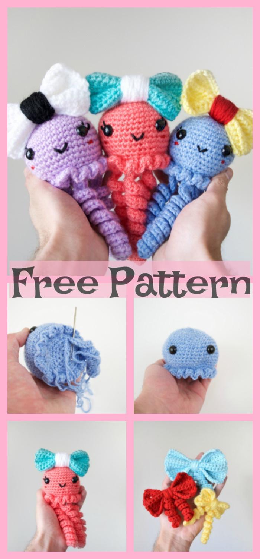 diy4ever- Crochet Jiggly Jellyfish - Free Patterns