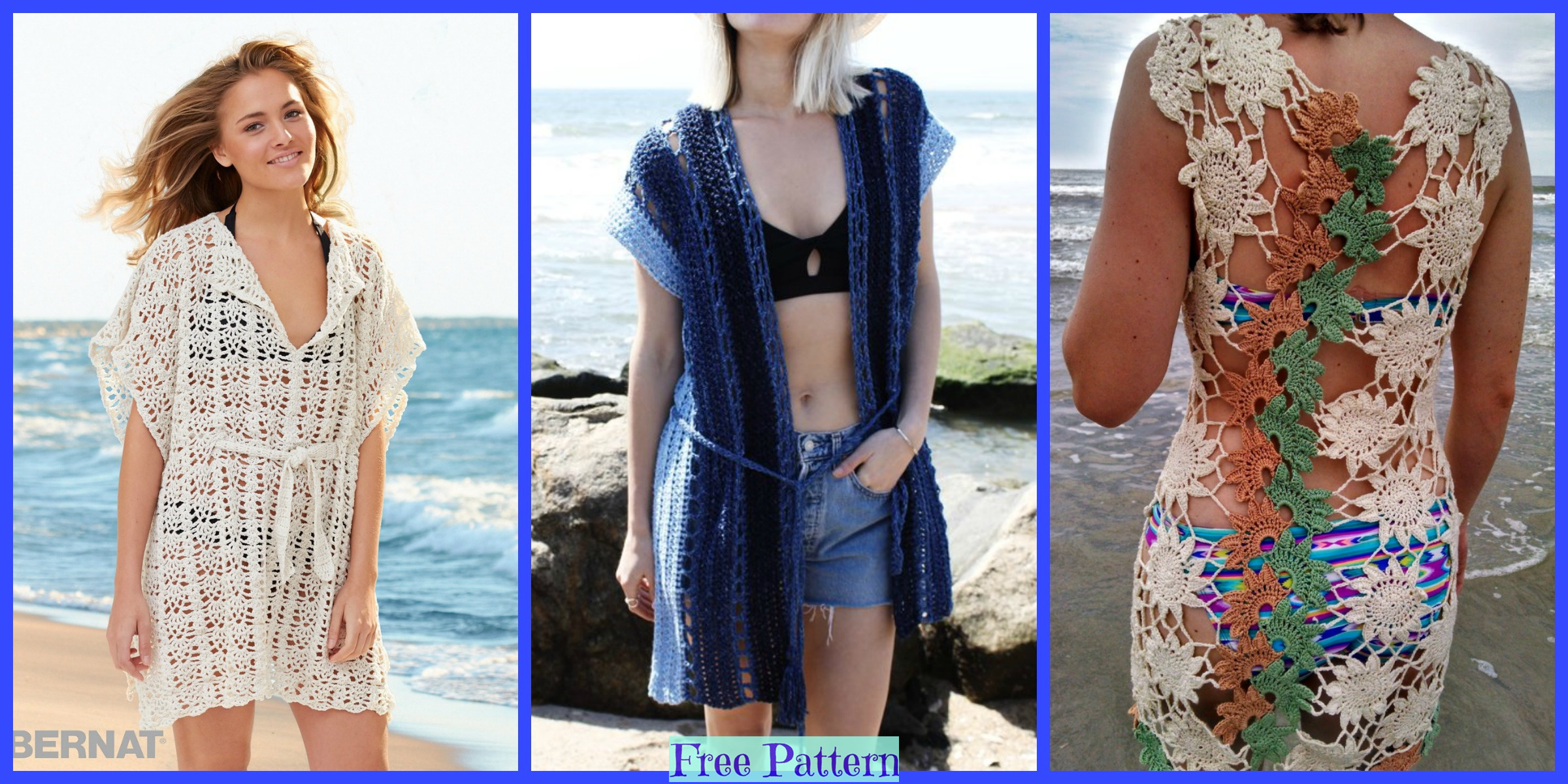 Crochet Lace Cover Ups – Free Patterns