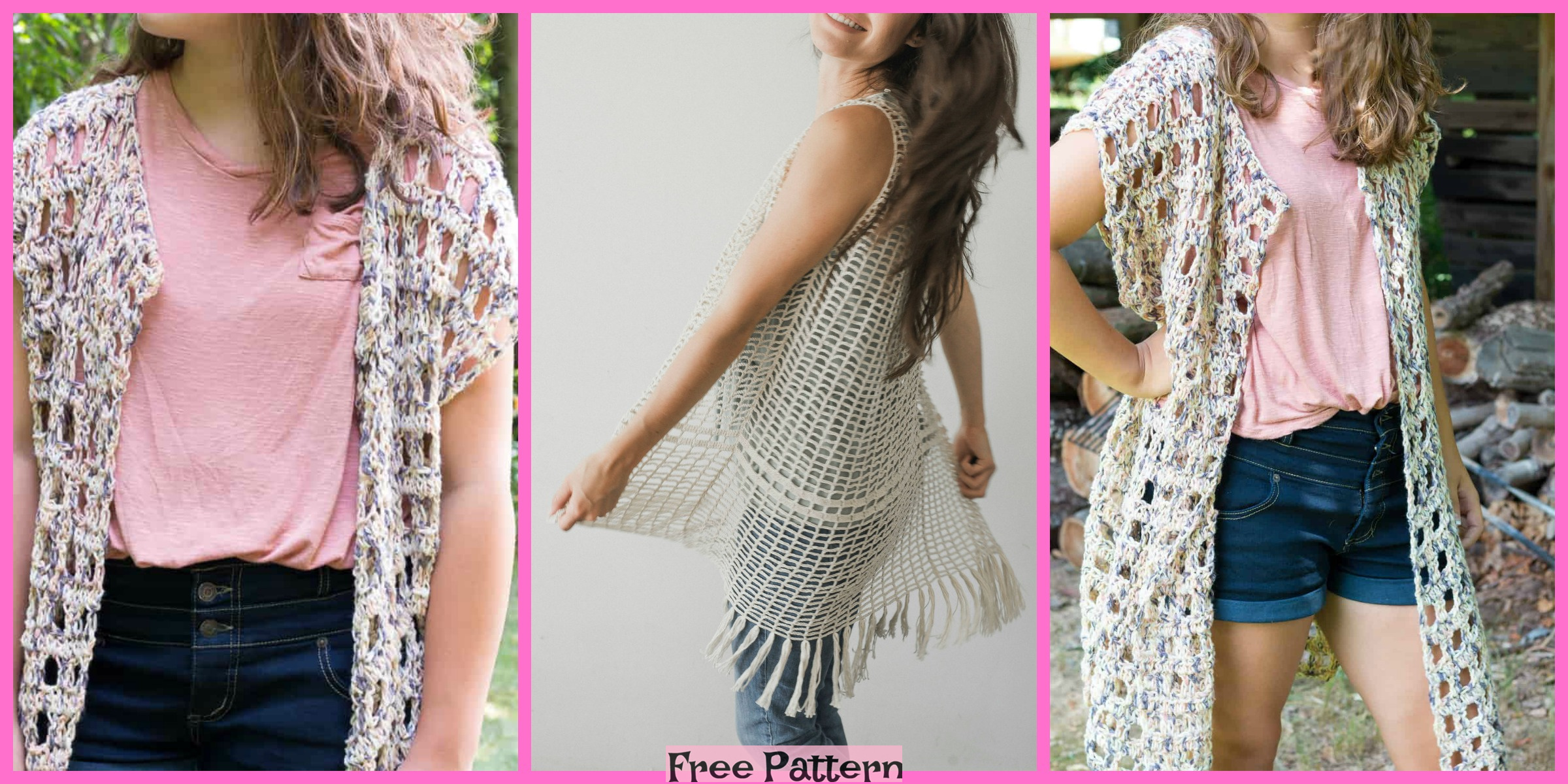 Beautiful Crochet Long Vest – Free Patterns